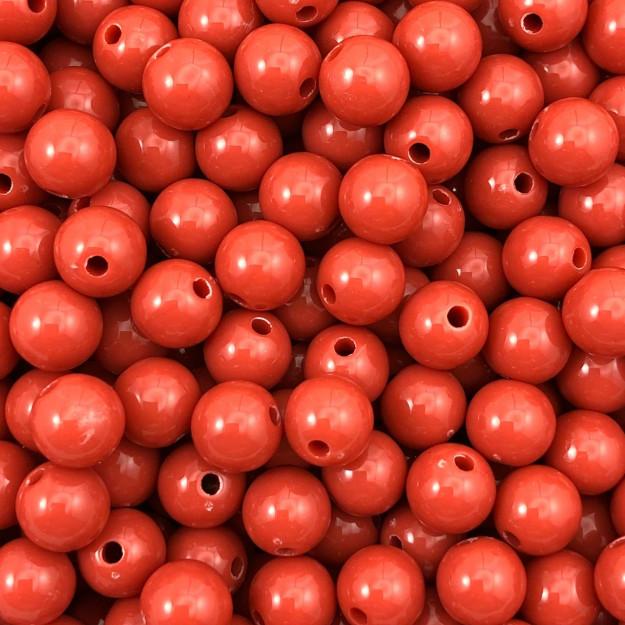 BOL551 - Bola Resina Terra Vermelha 8mm - 20Grs
