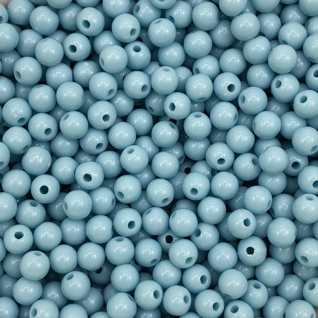 BOL566 - Bola Resina Azul Claro 6mm - 20Grs
