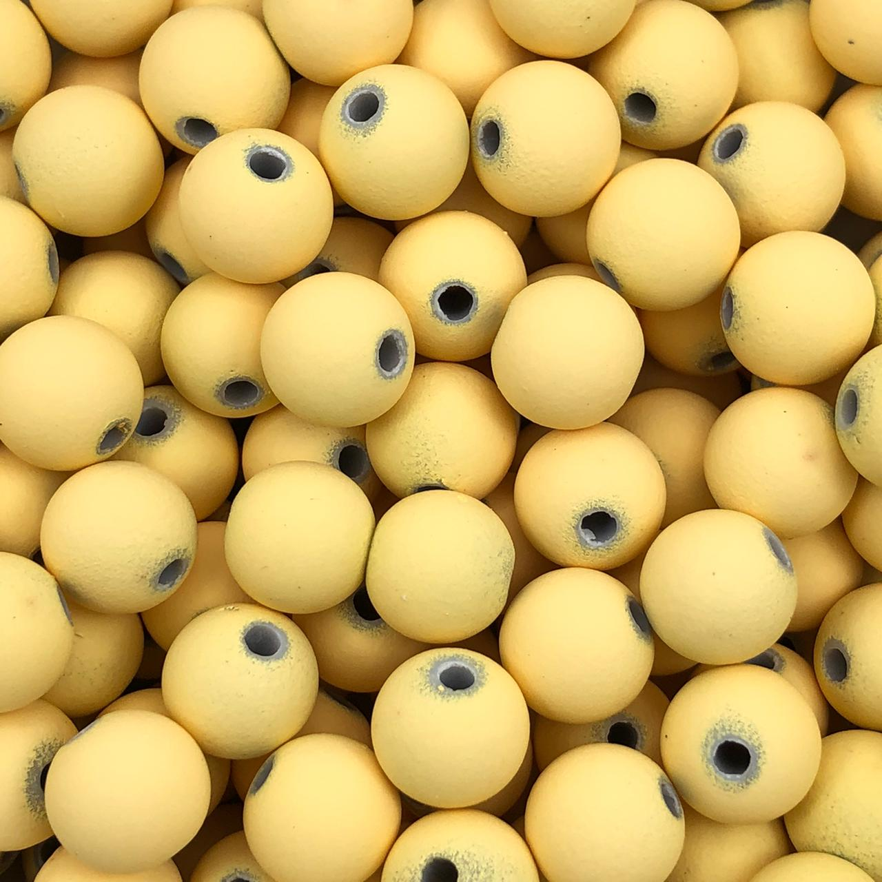 BOL613 - Bola Emborrachada Amarelo Claro 10mm - 20Grs