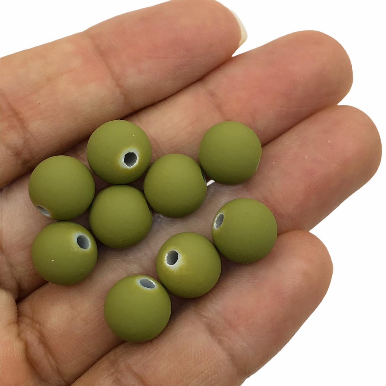 BOL615 - Bola Emborrachada Verde Militar 10mm - 20Grs