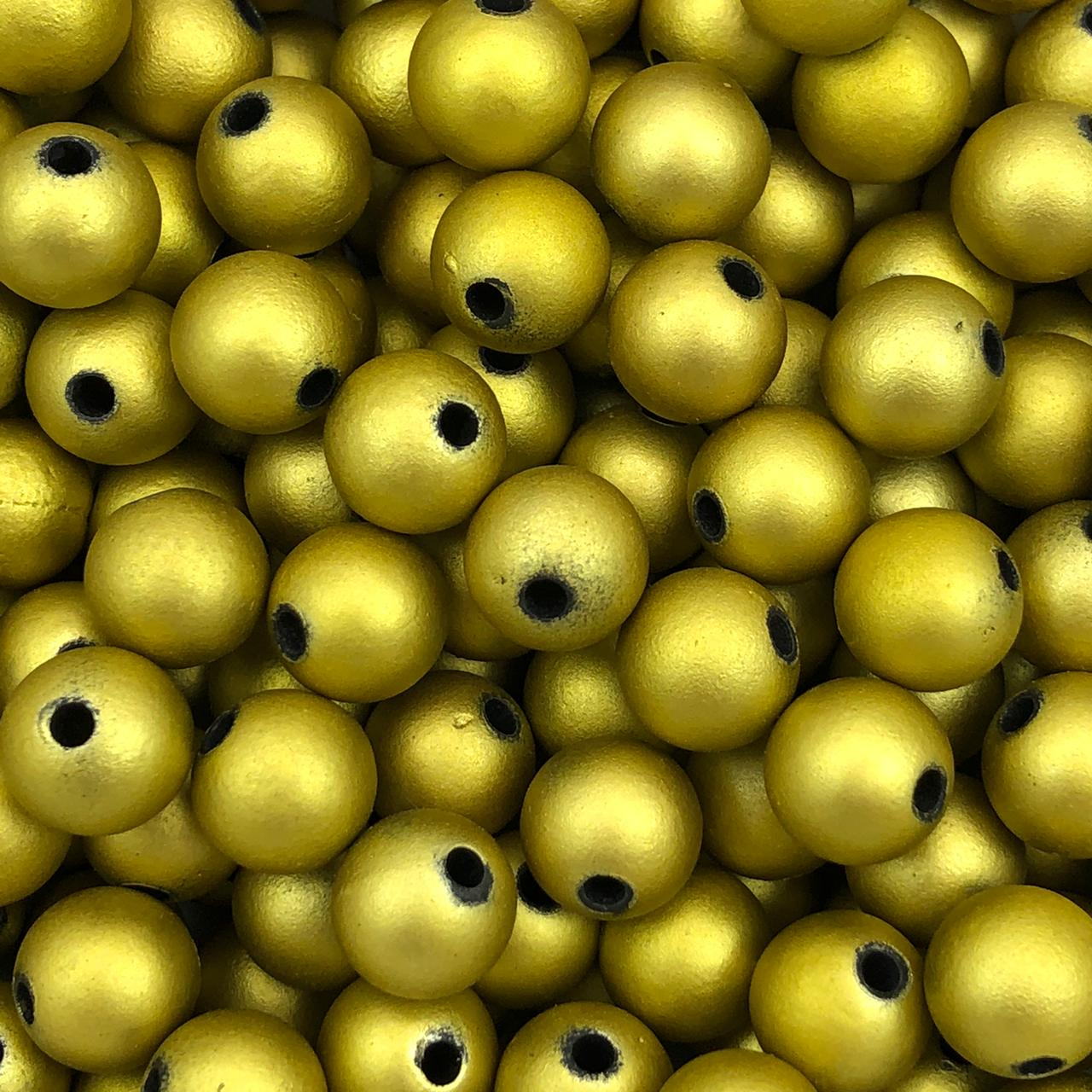 BOL617 - Bola Emborrachada Dourado 10mm - 20Grs