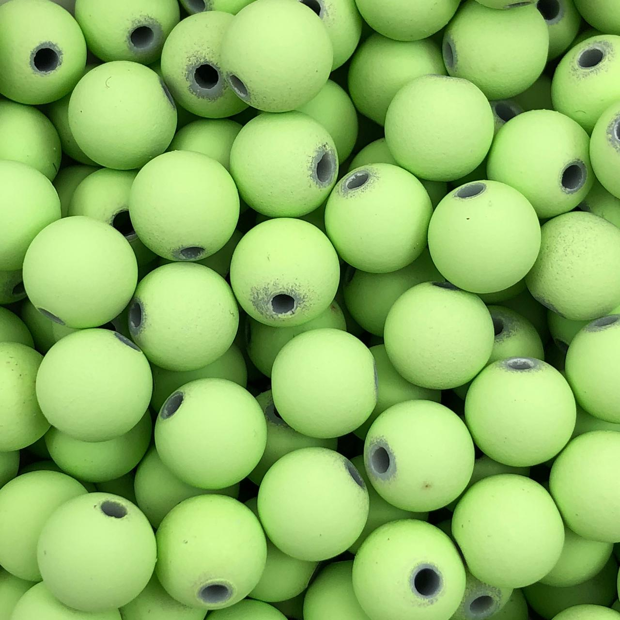BOL618 - Bola Emborrachada Verde Maça 10mm - 20Grs