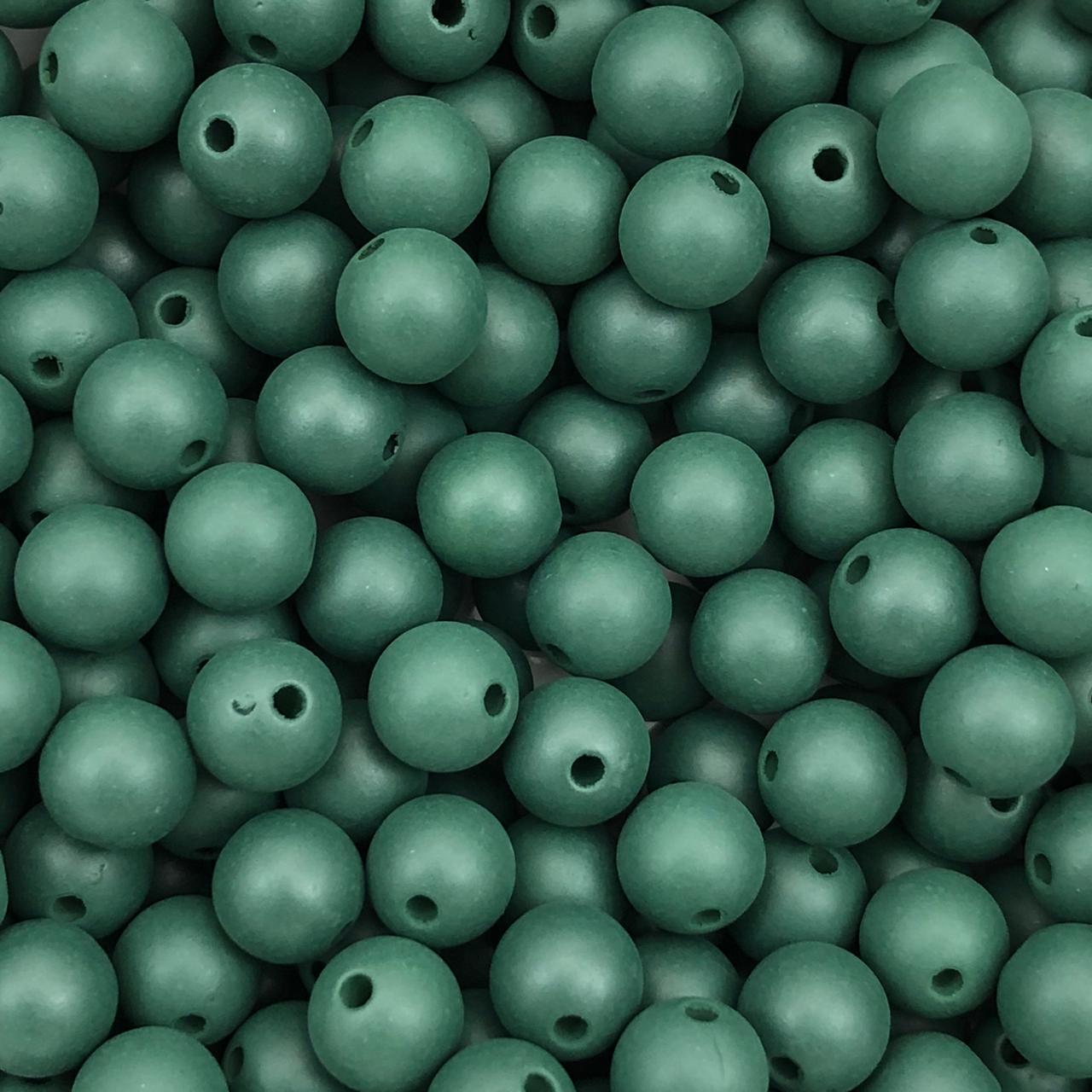 BOL621 - Bola Plástica Fosca Verde Bandeira 8mm - 20Grs