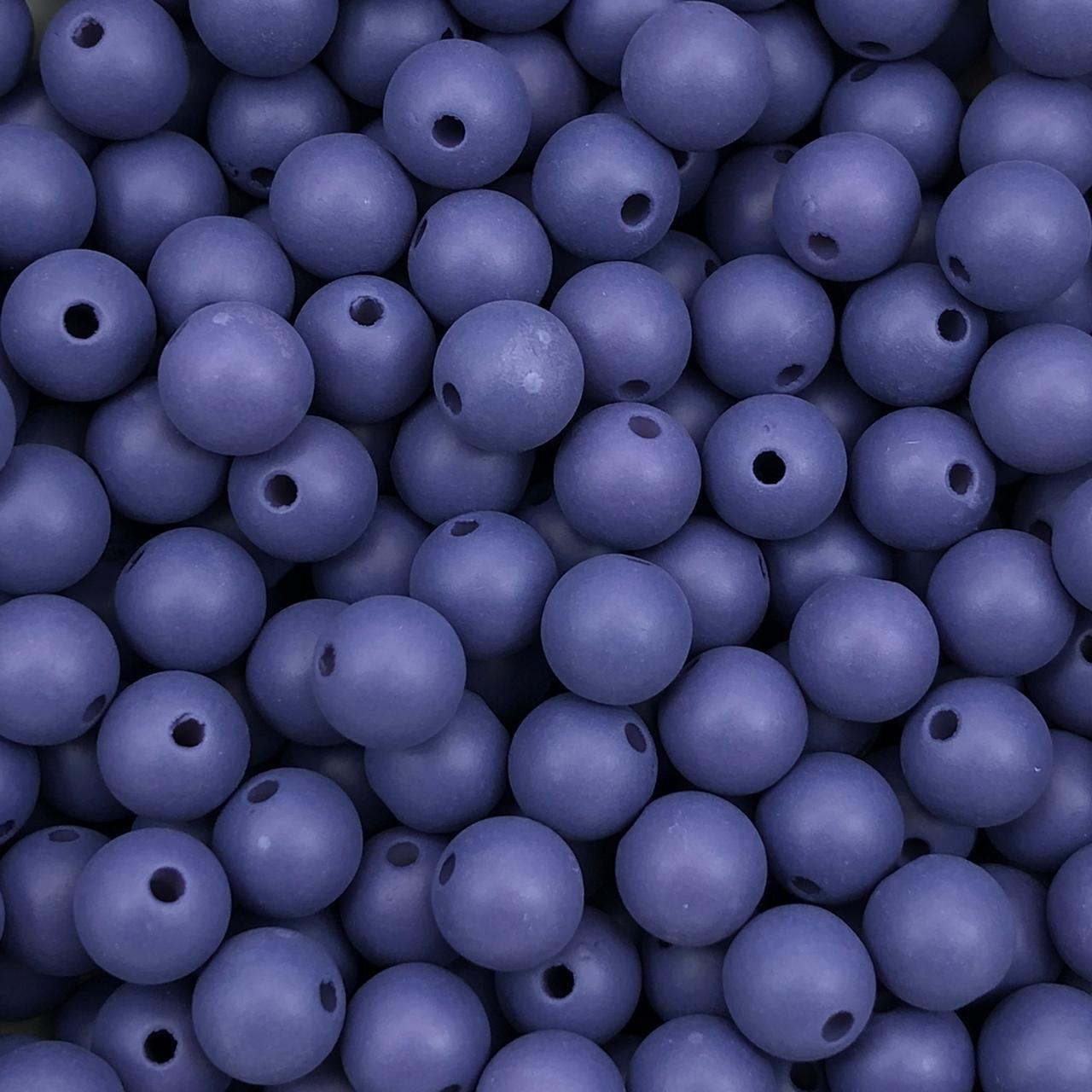 BOL626 - Bola Plástica Fosca Azul 8mm - 20Grs