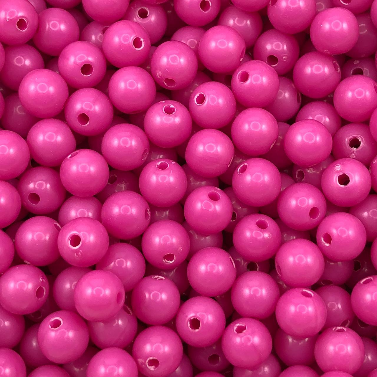 BOL650 - Bola Plástica Rosa 8mm - 20Grs