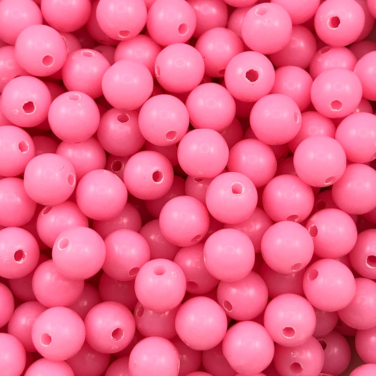 BOL652 - Bola Plástica Rosa Chiclete 8mm - 20Grs