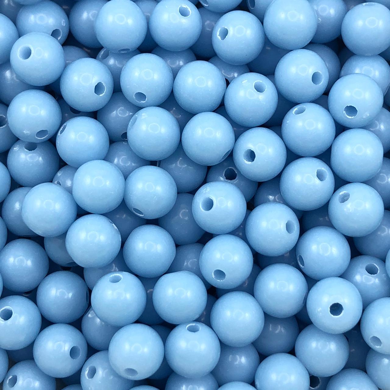 BOL658- Bola Plástica Azul 8mm - 20Grs