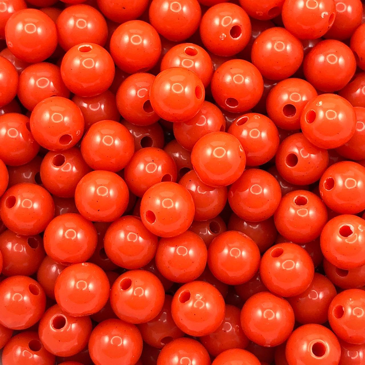 BOL659- Bola Plástica Coral 8mm - 20Grs