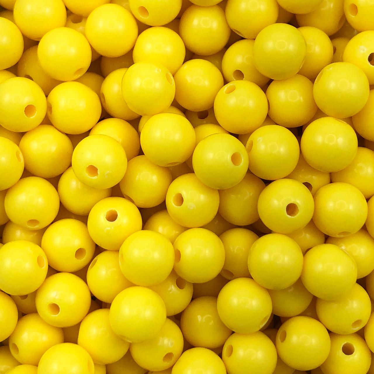 BOL660- Bola Plástica Amarelo 8mm - 20Grs