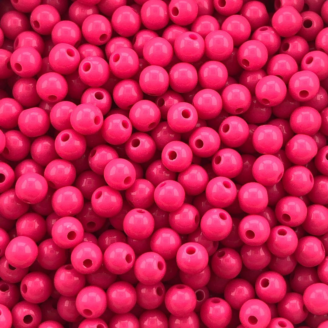 BOL666 - Bola Resina Rosa Pink 6mm - 20Grs