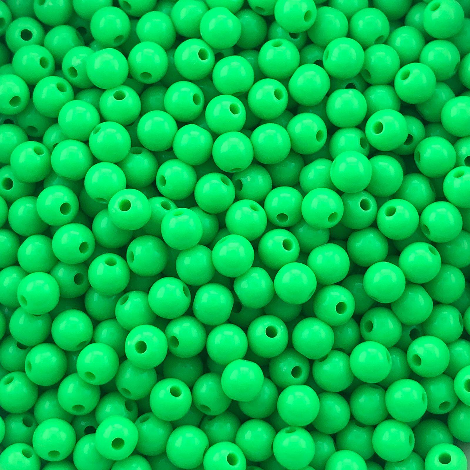 BOL673 - Bola Resina Verde 6mm - 20Grs