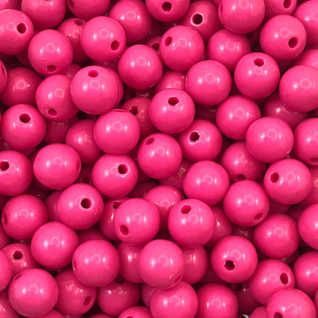 BOL94 - Bola Resina Rosa Pink 8mm - 20Grs