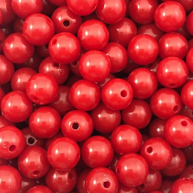 BOL99 - Bola Resina Vermelho 10mm - 20Grs