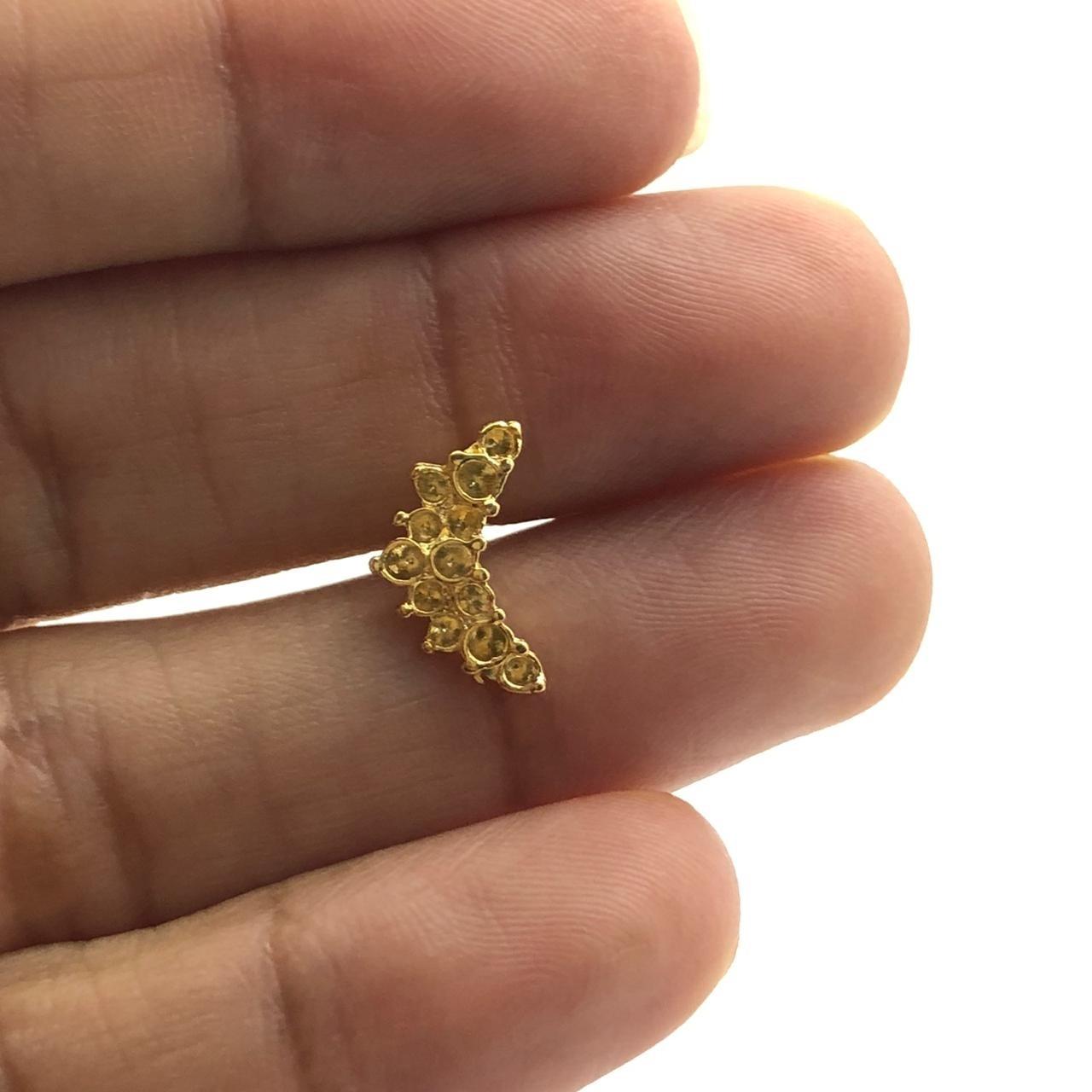 BP1354 - Base de Brinco Folheado Ouro - 01Par