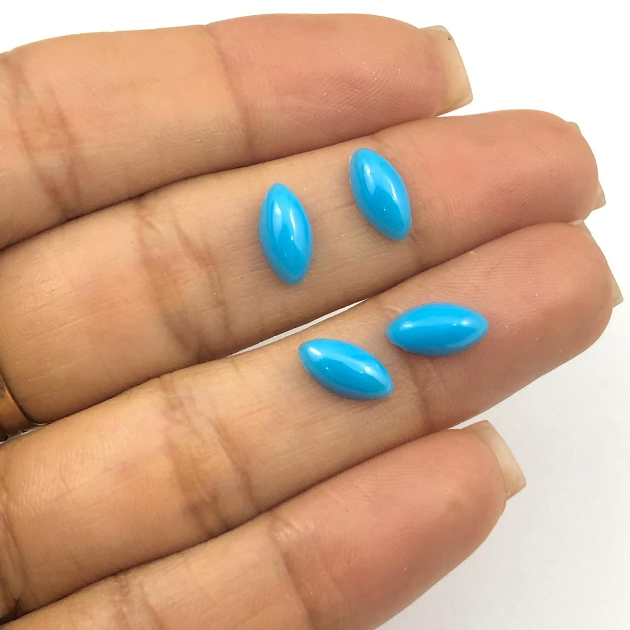 CHT008 - Chaton Navete Azul 5x10 - 10unids