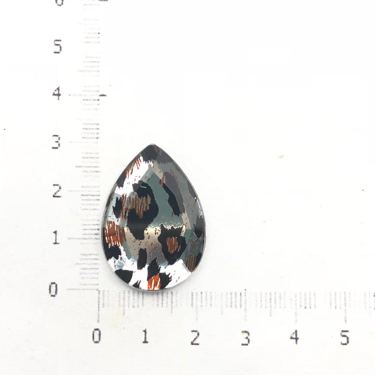CHT1030 - Chaton Gota 18x25 Cristal Malhado - 4unids
