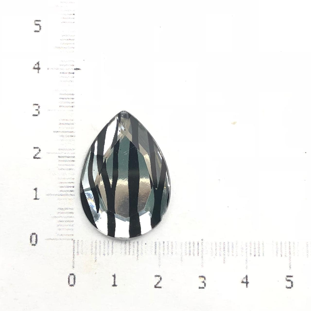 CHT1032 - Chaton Gota 18x25 Cristal Listrado - 4unids
