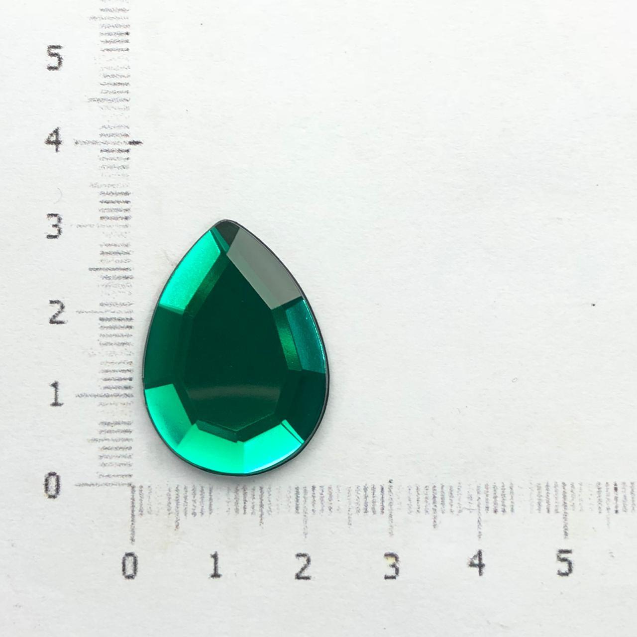CHT129 - Chaton Gota 18x25 Esmeralda - 2Unids