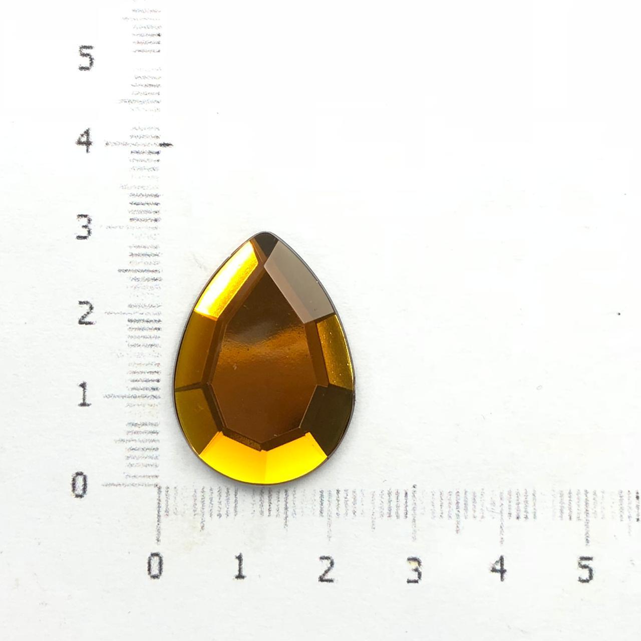 CHT131 - Chaton Gota 18x25 Topaz - 2Unids