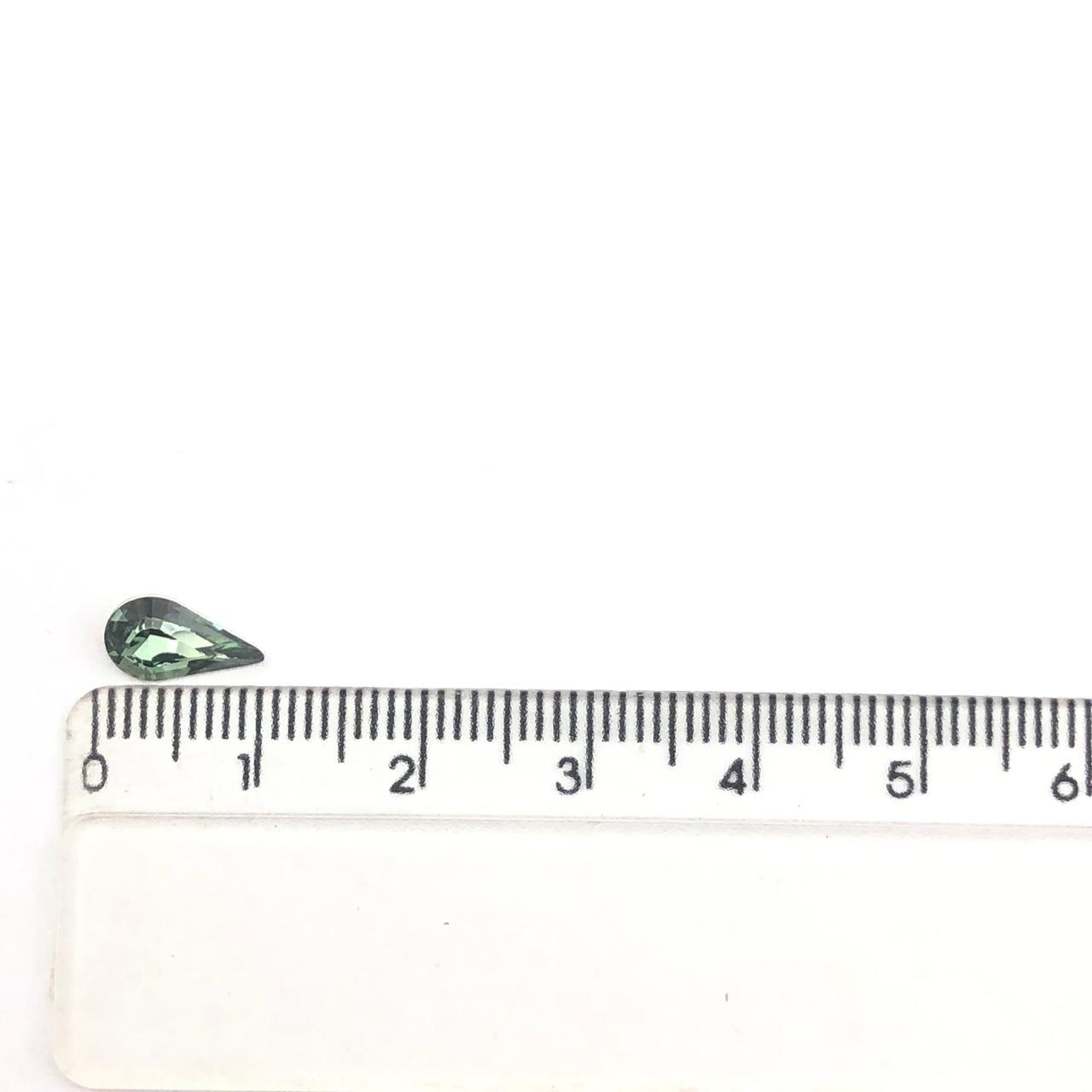 CHT1325  - Chaton Gota Base Côncava Green Turmaline 6x10 - 10unids
