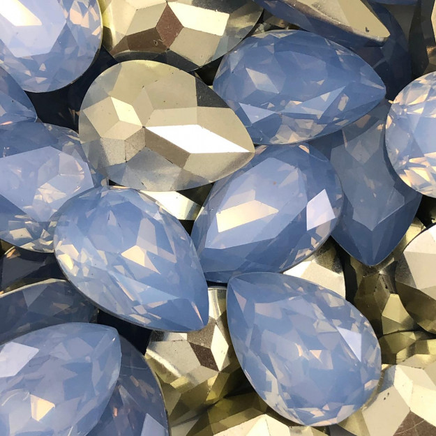 CHT1365 - Chaton Gota 18x25 Base Côncava Indian Sapphire - 2unids