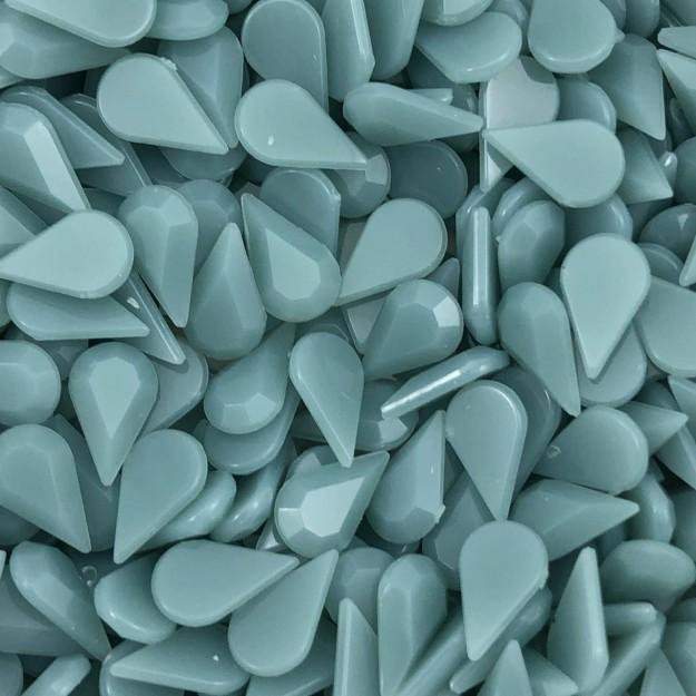 CHT1409 - Chaton Gota 6x10 Jade Pacific Quartz- 10unids