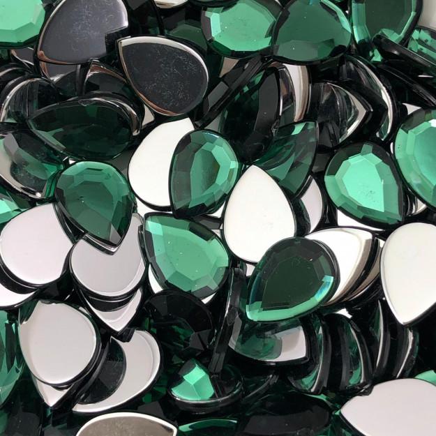 CHT1410 - Chaton Gota 10x14 Green Turmaline- 6Unids