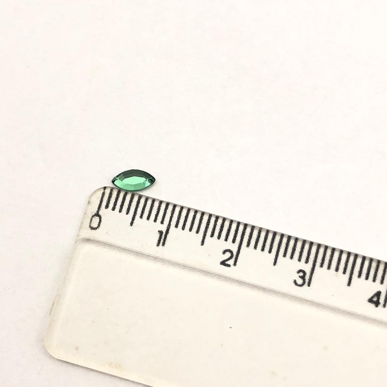 CHT1455 - Chaton Navete Green Turmaline 3x6 - 20unids