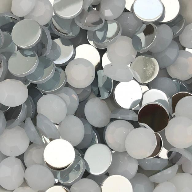 CHT1690 - Chaton Redondo 10mm White Opal - 10unids