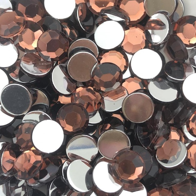 CHT1699 - Chaton Redondo 10mm Light Burgundy - 10unids