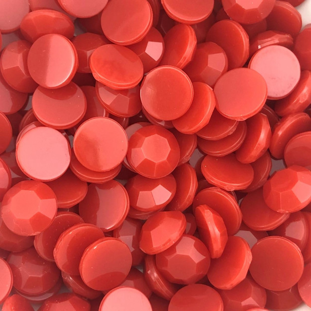 CHT1702 - Chaton Redondo 10mm Vermelho - 10unids