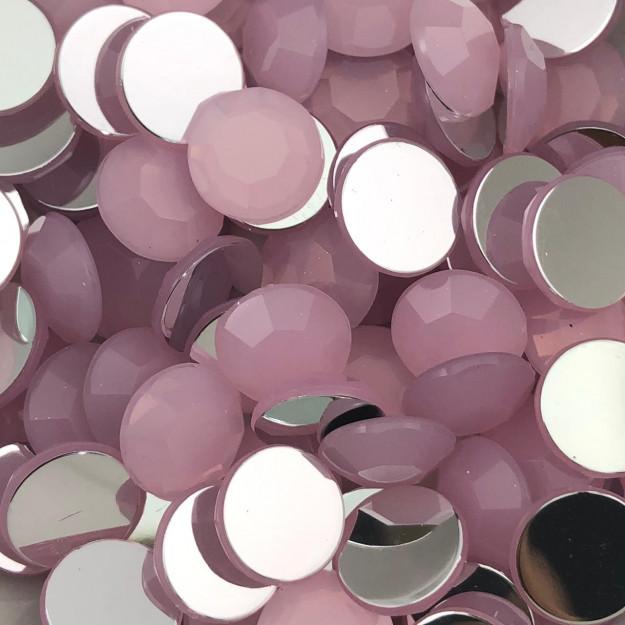 CHT1716 - Chaton Redondo 12mm Rose Opal - 6Unids