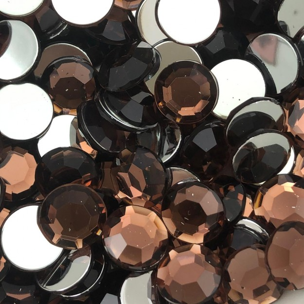 CHT1721 - Chaton Redondo 12mm Light Burgundy - 6Unids