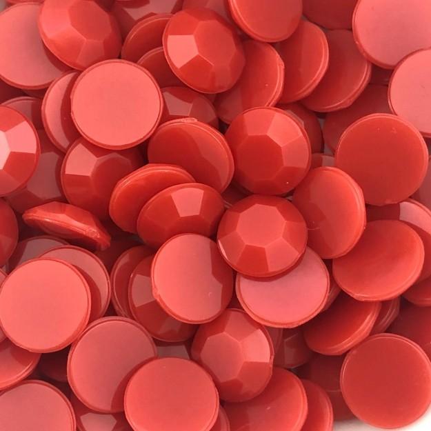 CHT1726 - Chaton Redondo 12mm Vermelho - 6Unids