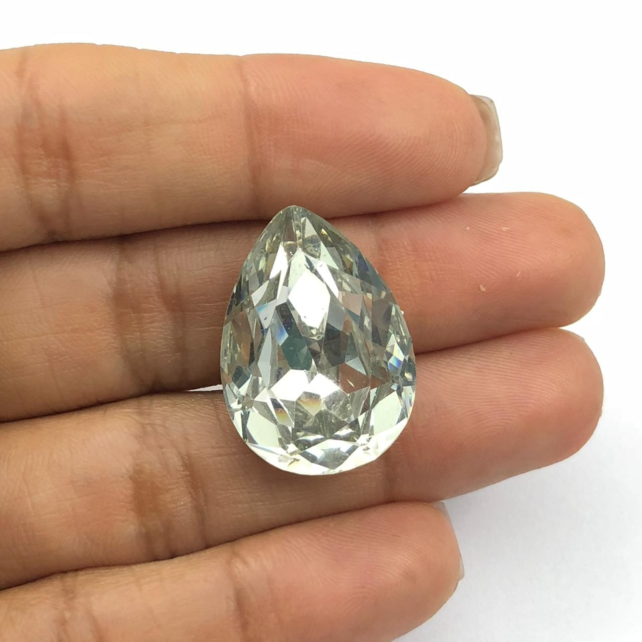 CHT645 - Chaton Gota 18x25 Base Côncava Cristal - 2unids