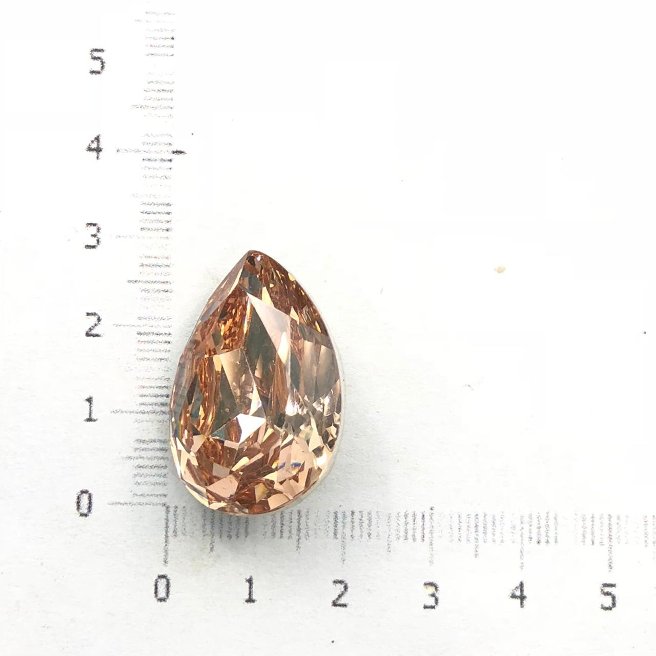 CHT648 - Chaton Gota 18x25 Base Côncava Light Peach - 2unids