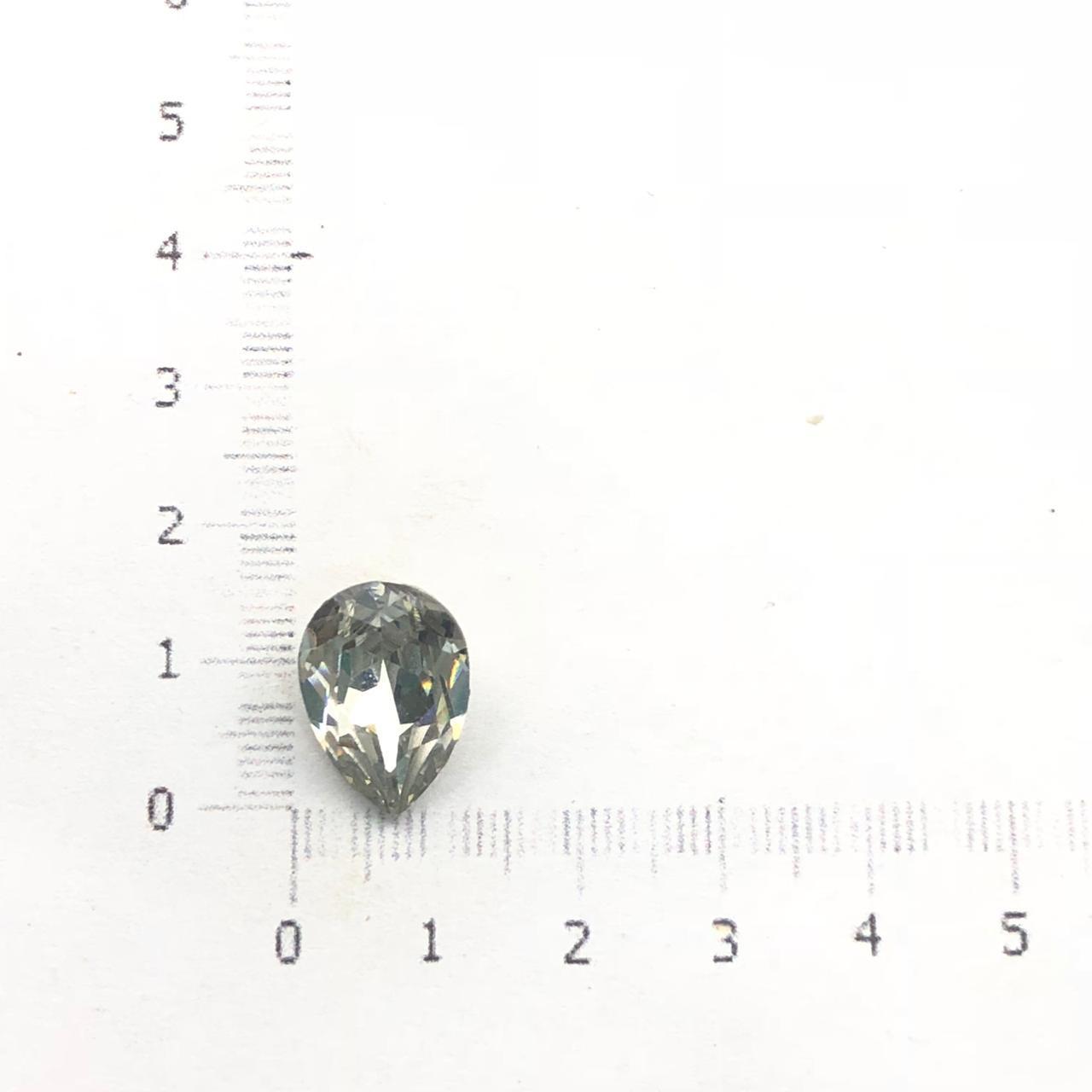 CHT709 - Chaton Gota 10x14 Base Côncava Cristal - 4unids