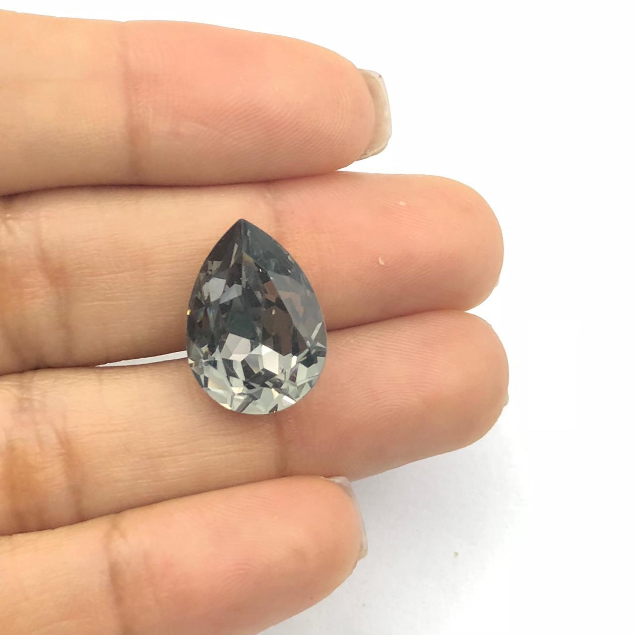 CHT715 - Chaton Gota 13x18 Base Côncava Black Diamond - 2unids