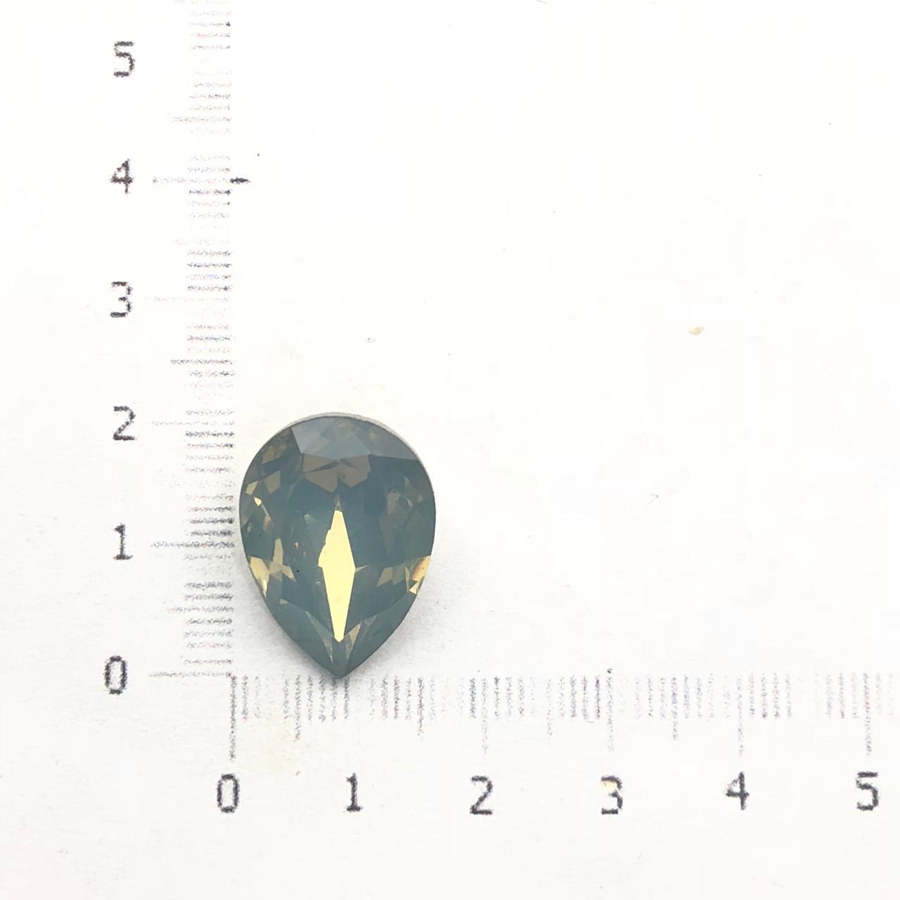 CHT721 - Chaton Gota 13x18 Base Côncava Indian Sapphire - 2unids