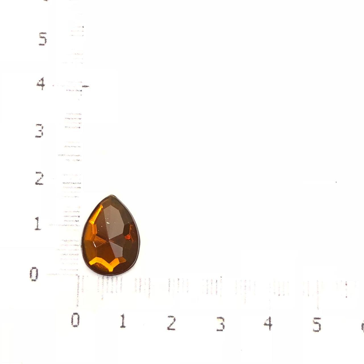 CHT812 - Chaton Gota 10x14 Topaz - 6Unids