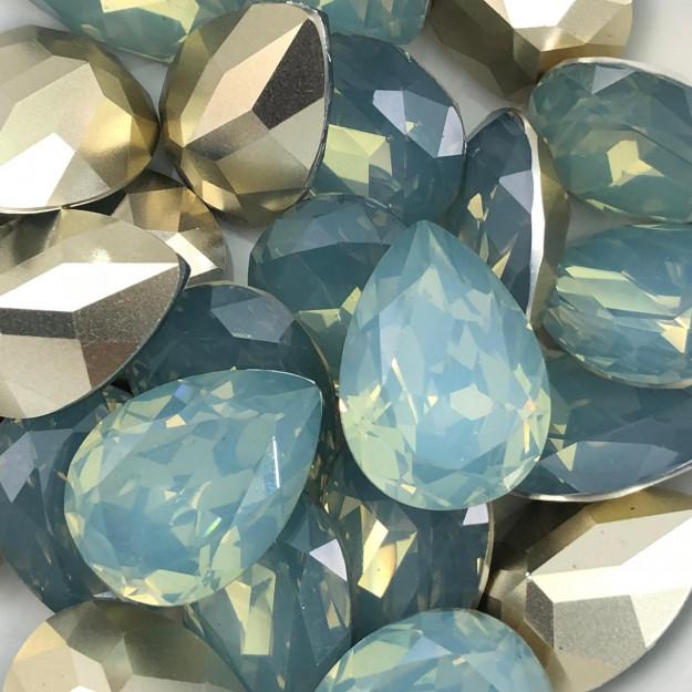 CHT829 - Chaton Gota 18x25 Base Côncava Indian Sapphire - 2unids