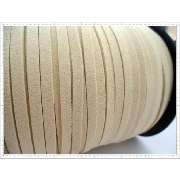 CM03 - Cordão de camurça 5mm Gelo - 1metro