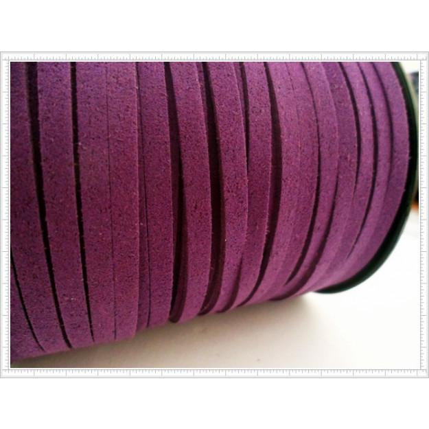 CM08 - Cordão de camurça Violeta 5mm - 1metro