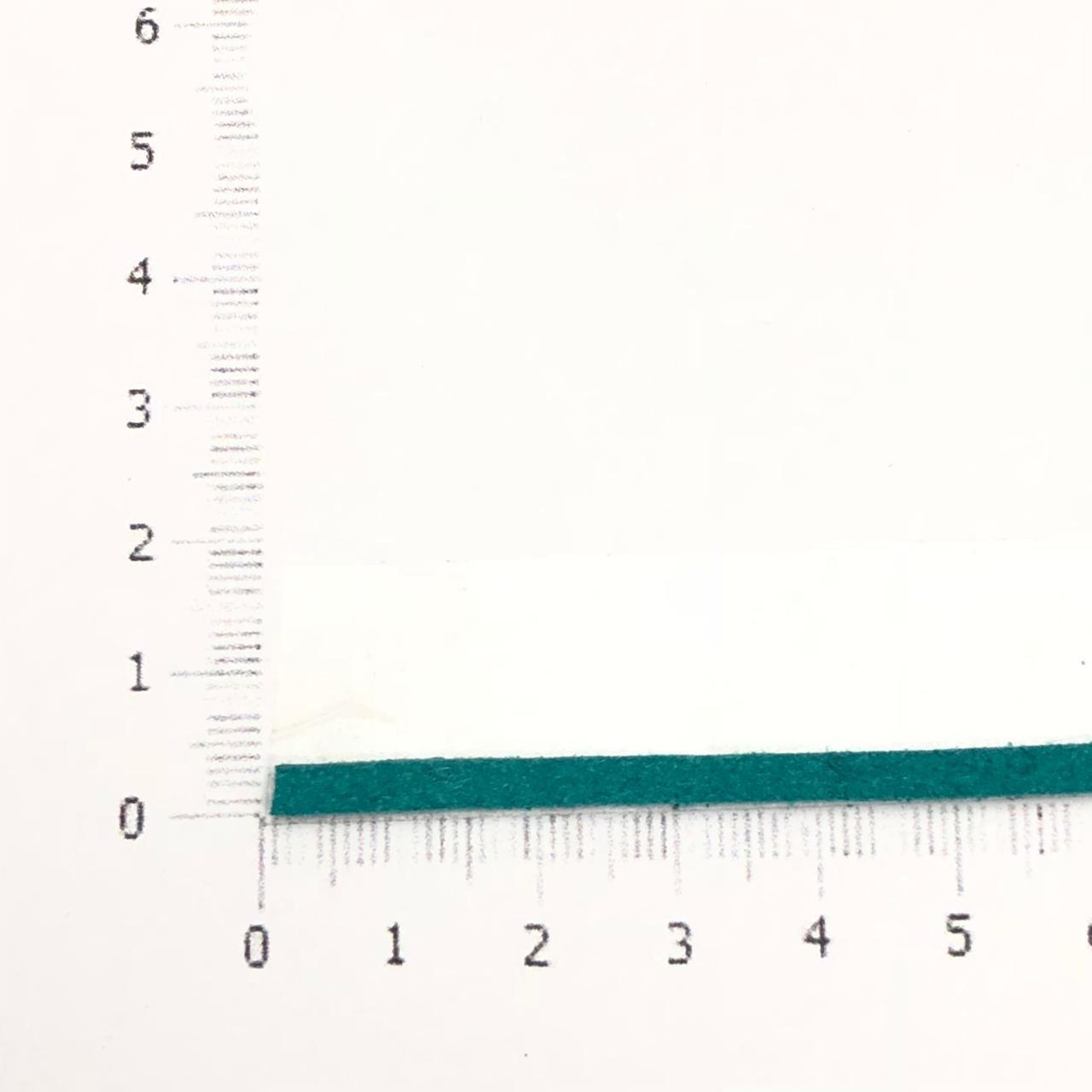 CM26 - Cordão de camurça Turquesa 3mm - 1metro