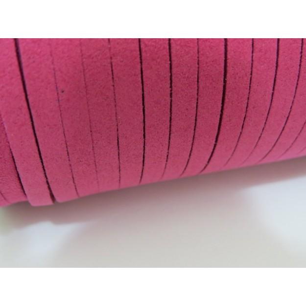 CM40 - Cordão de camurça 5mm Pink - 1metro