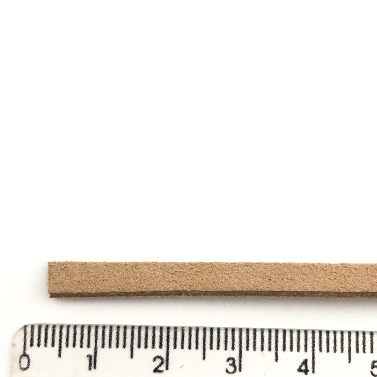 CM80 - Cordão de camurça 5mm Marrom Siena - 1metro