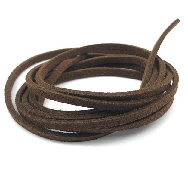 CM97 - Cordão de camurça 3mm Chocolate  - 1metro