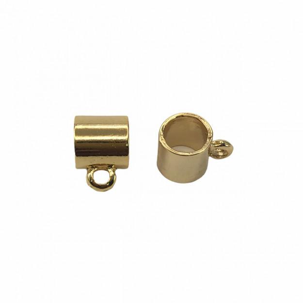 CN462 - Caneca 6mm Banhado Cor Dourado - 2Unids