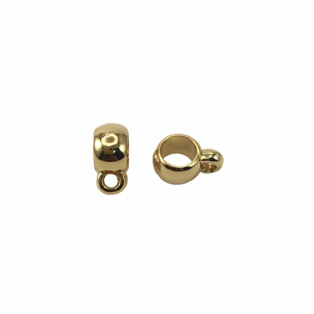 CN468 - Caneca 5mm Banhado Cor Dourado - 4Unids