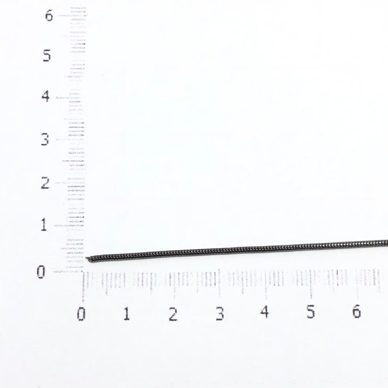 CR221 - Corrente Rabo de Rato 1mm Banhado Cor Grafite - 1metro